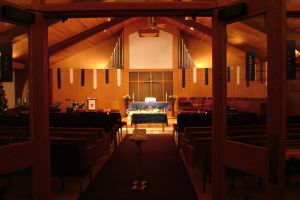 Santuary set up for Wednesday Contemplative Service