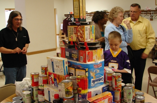 March Food Drive - Food Tower
